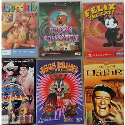 Assorted DVDs  Predominantly G & PG - Lot of Approx 110