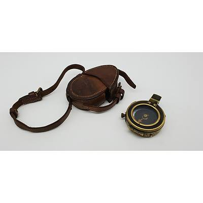 British Cased Prismatic Marching Compass Dated 1917