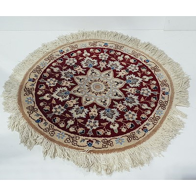 Persian Hand Knotted Round Rug