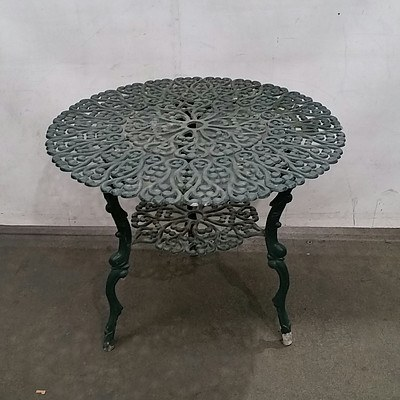 Painted Cast Metal Outdoor Table, Nesting Tables and More