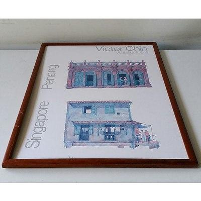 Victor Chin Watercolours Singapore Penang Offset Print