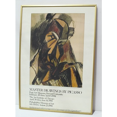 Master Drawings By Picasso Exhibition Poster Offset Print