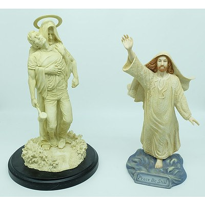 Two Religious Statues