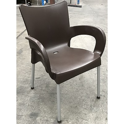 Sigtah - Chocolate Outdoor Chairs - Lot of Five
