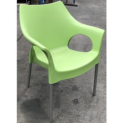 Sigtah - Pistachio Outdoor Chairs - Lot of Three