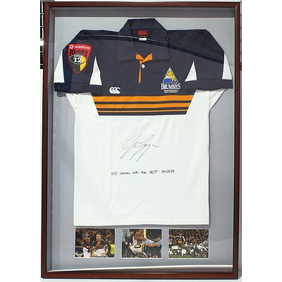 2003 Super 12 Brumbies Jersey Signed by George Gregan