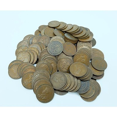 One Hundred and Fifty Australian Pennies Including Years from 1917-1924