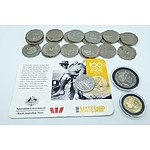 Group of Australian Coins Including 20c WW1 Mateship Coin and More