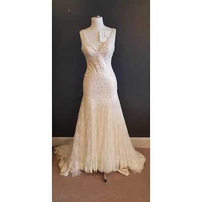 Martina Liana  Designer Wedding Dress - Size 10