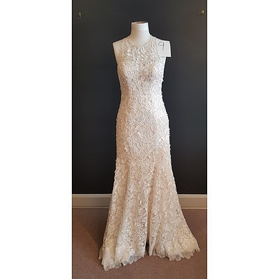 Martina Liana  Vintage Lace Wedding Dress - Size 14