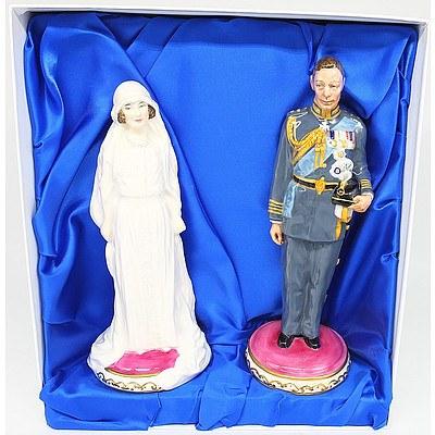 Royal Doulton Classics The Future King George VI and Elizabeth Bowes-Lyon Fine China Figures