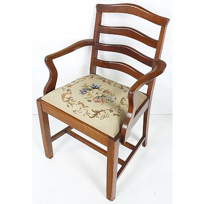 Vintage Armchair with Tapestry Seat