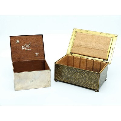 Two Vintage Cigarette Boxes Including Vice Regal and Another