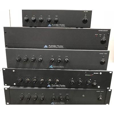 Australian Monitor Power Amplifiers - Lot of 5