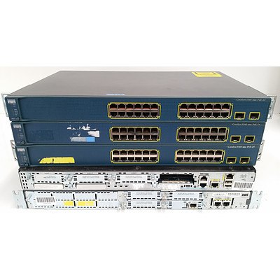 Cisco Switches & Routers - Lot of 5