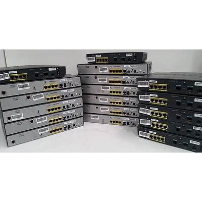 Cisco 800 Series Routers - Lot of 18