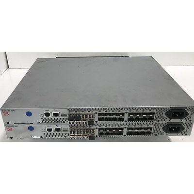Brocade 300 Fibre Channel Switches - Lot of 2