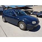 3/2001 Volkswagen Golf GL  5d Hatchback Blue 1.6L