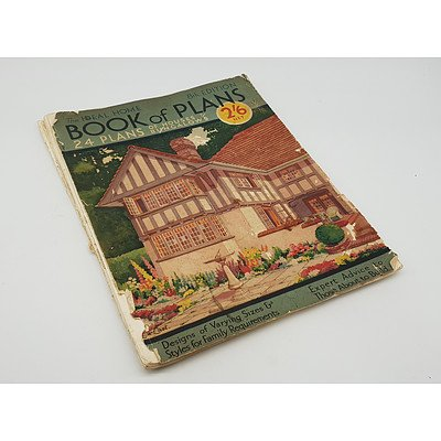Vintage 1920s-1930s The Ideal Home Book of Plans of Houses and Bungalows