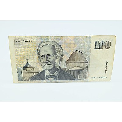 1985 Australian Grey Nurse $100 Note