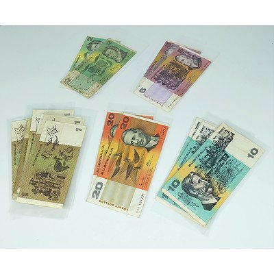 Fifteen Australian Paper Bank Notes