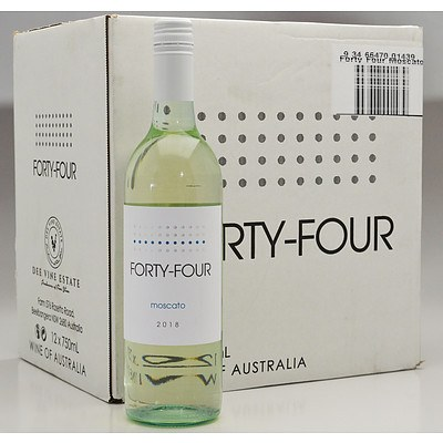 Case of 12x 750ml Bottles Forty Four Moscato - RRP $120