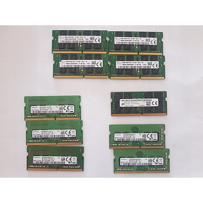 Lenovo Yoga S260 Assorted Brands 8GB RAM Cards - Lot of 10 RRP $600+