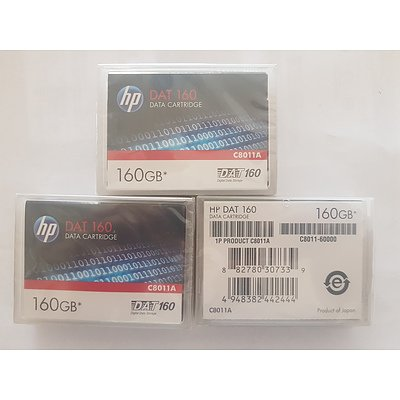 HP DAT 160GB Data Cartridge Brand New - Lot of 3 RRP $500+
