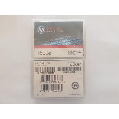 HP DAT 160GB Data Cartridge Brand New - Lot of 2 RRP $350+