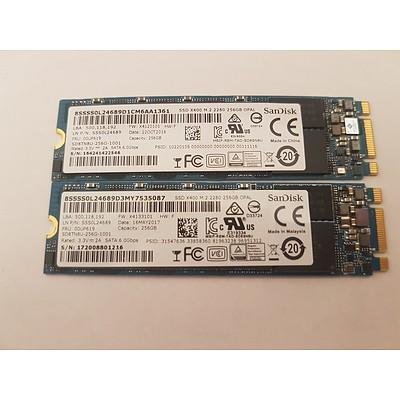 Lenovo Yoga 11E G3/G4/S260 SanDisk 256GB SSD - Lot of 2 RRP $600+