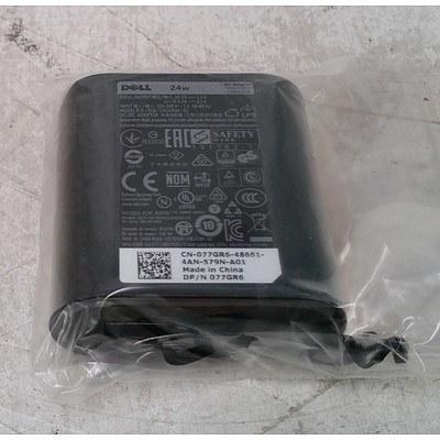 Dell (DA24NM130) 24w AC Adapter - Lot of 7 *Brand New