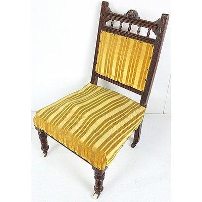 Edwardian Maple Nursing Chair