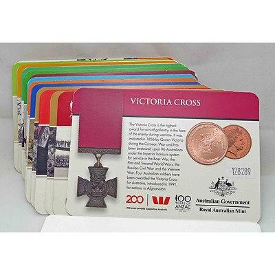 Australia ANZAC Collection of 14 Royal Australian Mint Coins