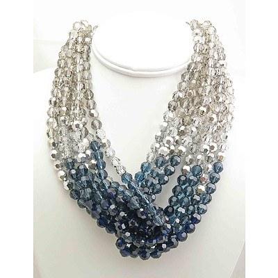 Swarovski Blue & White Crystal Necklace