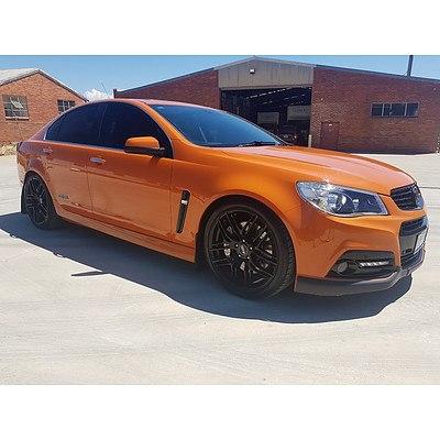 7/2013 Holden Commodore SS-V Redline VF 4d Sedan Orange 6.0L