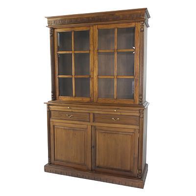 Dutch East Indies Colonial Style Solid Wood Bookcase Late 20th Century