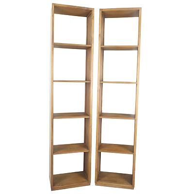 Pair of Simple Solid Wood Bookcases or Display Units