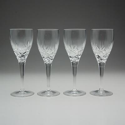 Four Royal Doulton Cut Crystal Port Glasses