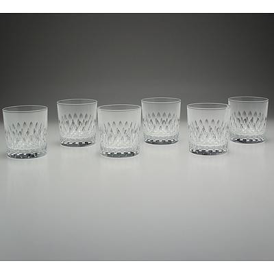 Six J.G Durand Cut Crystal Whisky Glasses