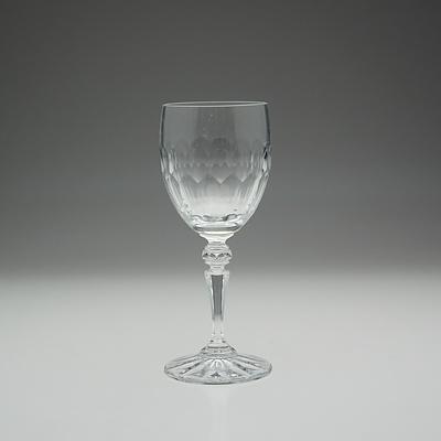 Ten Galway Cut Crystal Dinner Glasses