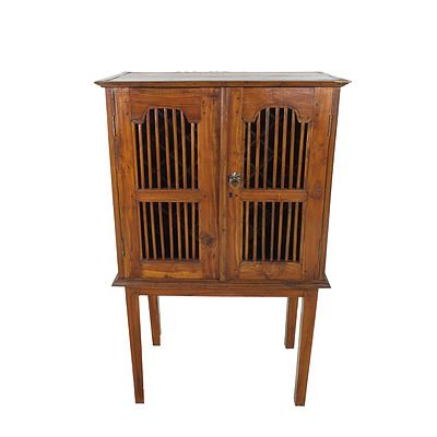 Dutch East Indies Plantation Style Wine Cabinet