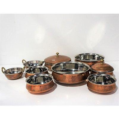 Group Beaten Copper Kitchenware