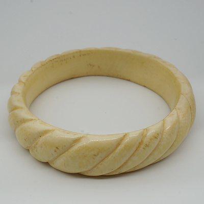 Carved African Ivory Bracelet