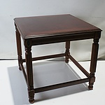 Walnut Veneer Side Table with Applied Brass Paterae
