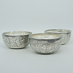 Three French SIOM Silver Plate Butter Dishes
