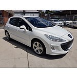 4/2008 Peugeot 308 XSE Turbo  5d Hatchback White 1.6L