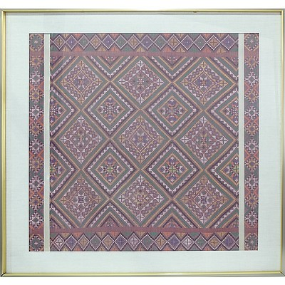 Framed Traditional Tribal Textile, Philippines
