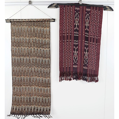 Two South East Asian Textile Hangings