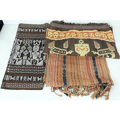 Three Large South East Asian Textiles
