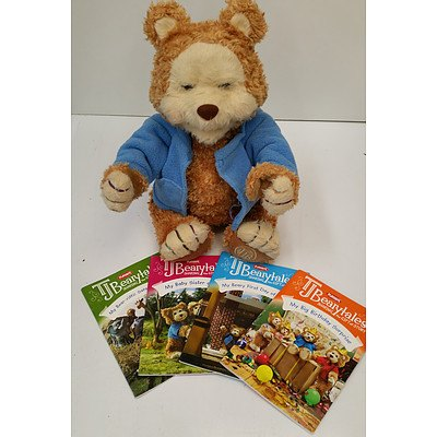 Play Skool TJ Beary Tales  Toy Bear & books